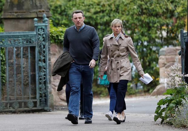 Kate and Gerry McCann arrive for a service to mark the 10th anniversary of the disappearance of their daughter Madeleine Photo: REUTERS/Darren Staples