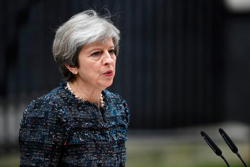British Prime Minister Theresa May. Photo: GETTY