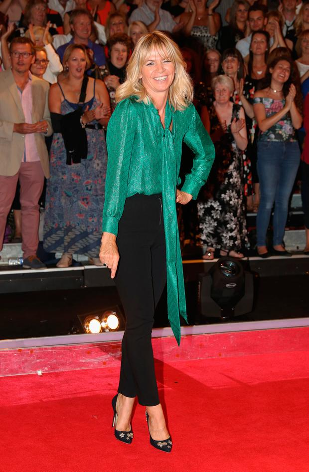 Zoe Ball arrives for the launch of 'Strictly Come Dancing 2016' at Elstree Studios on August 30, 2016 in Borehamwood, England. (Photo by Chris Jackson/Getty Images)