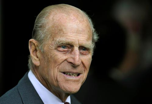 Britain's Prince Philip during his visit with Queen Elizabeth to the Irish National Stud in Kildare