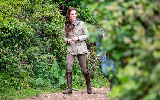 Britain's Catherine, The Duchess of Cambridge visits a
