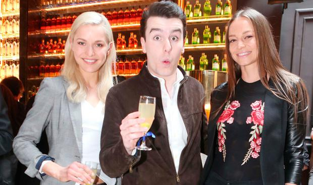 Teo Sutra, Al Porter and Irma Mali at the launch of NoLIta on Georges Street. Picture: Leon Farrell / Photocall Ireland