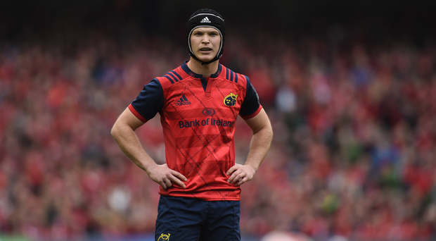 Tyler Bleyendaal of Munster during the European Rugby Champions Cup Semi-Final match between Munster and Saracens at the Aviva Stadium in Dublin. Photo by Diarmuid Greene/Sportsfile