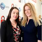Cliona Carroll (INM Sponsorhip and Events Manager) and Claire Keay (Founder and MD of Taxsaver Bikes). Picture; Gerry Mooney
