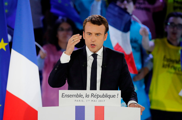 French presidential candidate Emmanuel Macron Photo: Reuters