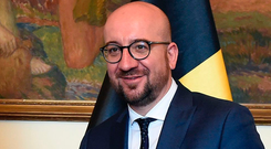 Political storm: Belgian Prime Minister Charles Michel Picture: AFP
