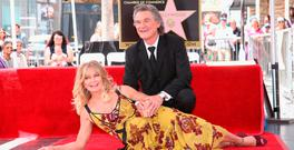 Goldie Hawn and Kurt Russell are honored with a Star On the Hollywood Walk of Fame on May 4, 2017 in Hollywood, California. (Photo by Jesse Grant/Getty Images for Disney)