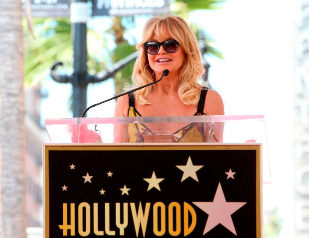 Honoree Goldie Hawn at Goldie Hawn and Kurt Russell are honored with a Star On the Hollywood Walk of Fame on May 4, 2017 in Hollywood, California. (Photo by Jesse Grant/Getty Images for Disney)