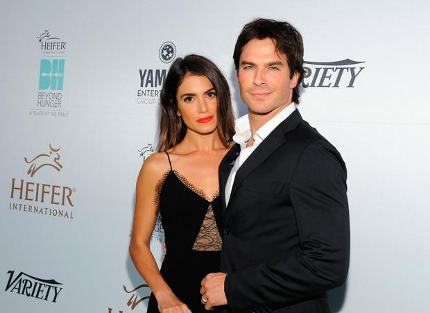 Actress Nikki Reed and actor Ian Somerhalder attend Heifer Internationals 4th Annual Beyond Hunger Gala at the Montage on September 18, 2015 in Beverly Hills, California