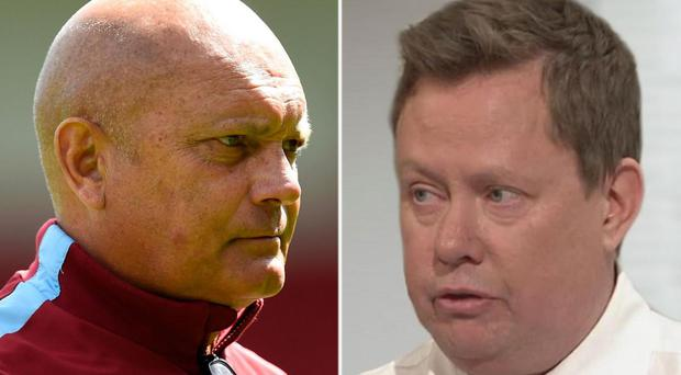 Ray Wilkins (left) and Neil Custis (right) were involved in a blazing row live on Talksport Getty/Sky Sports