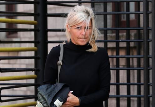 Denise Byrne pictured leaving the Four Courts yesterday(Fri) after she was awarded €15,000 damages following a Circuit Civil Court action.Pic: Collins Courts