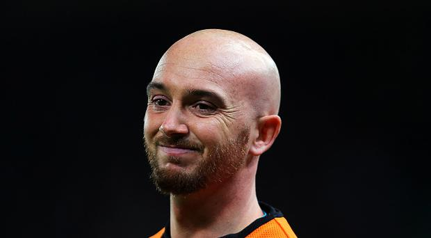 Stephen Ireland of Stoke City during the Barclays Premier League match between Stoke City and Chelsea at Britannia Stadium on November 7, 2015 in Stoke on Trent, England. (Photo by James Baylis - AMA/Getty Images)