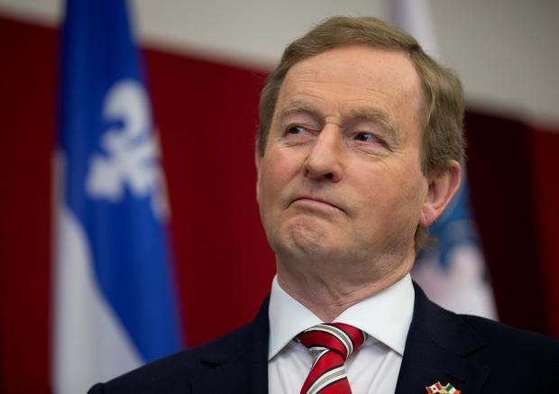 Enda Kenny waits to speak to members of the Irish community at the School of Irish Studies at Concordia University during his visit to Montreal, Quebec, Canada REUTERS/Christinne Muschi