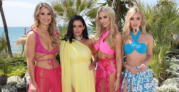Vogue Williams, Virginia Macari, Rosanna Davison and Roxy Horner at Virginia Macari's Paradise Collection. Pictures: Brian McEvoy