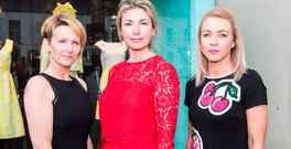 Kay Mulcair, centre, of Isobel boutique in Adare with two of her staff Orla Moran and Anne Dowling Photo: Press 22