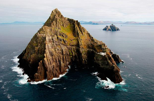 Skellig Michael features in 'Star Wars: The Last Jedi' Photo: Brian Lawless/PA Wire