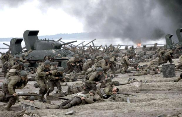 The famous D-day landing scenes from 'Saving Private Ryan' were shot on Curracloe Beach in Co Wexford Photo: David James/DreamWorks/REUTERS