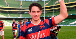 A year ago, Joey Carbery helped Clontarf to win the All-Ireland League against Cork Con. Photo: Sportsfile