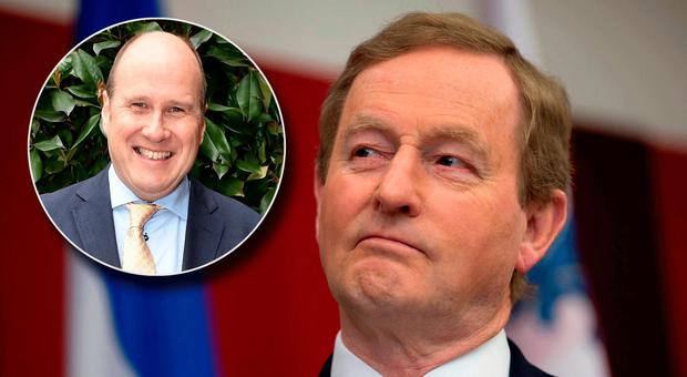 Enda Kenny and inset Ivan Yates