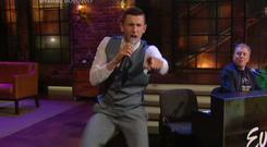 The Crystal swing star couldn't help but bust out his signature move during the Late Late Show's Eurovision special