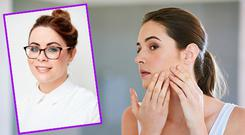 Jennifer Rock (inset) gives her tips for adult acne.