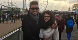 Keith Duffy pictured with his daughter Mia on her 17th birthday