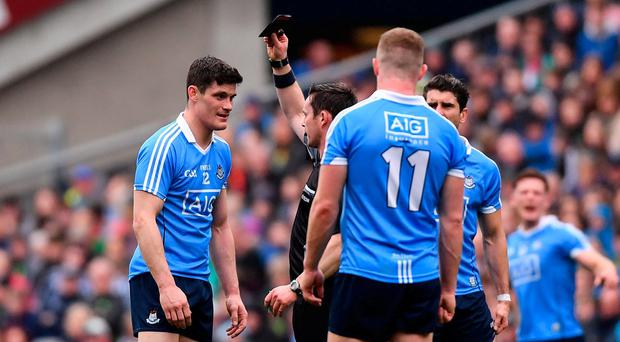 The debate over Diarmuid Connolly's black card in the League final was instructive. Photo: Ramsey Cardy/Sportsfile