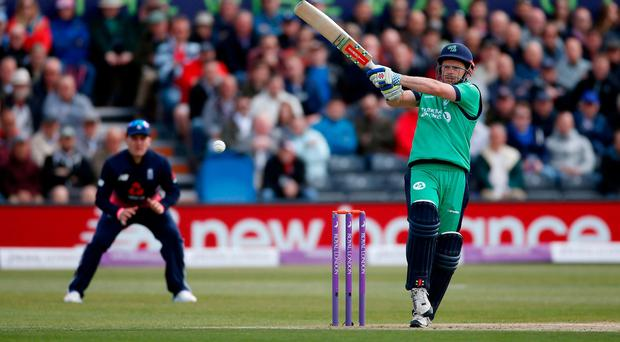 Ireland's Ed Joyce in action during Friday's disappointing loss to England in Bristol. Photo: Paul Childs/Action Images via Reuters