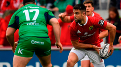 Conor Murray in action for Munster against Connacht in yesterday's PRO12 match. Photo: Sportsfile