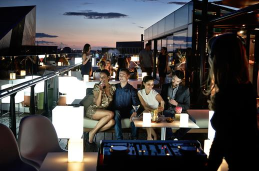 It's great outdoors: Dining al fresco at The Marker Hotel in Dublin. The trend for restaurants to provide outdoor eating spaces is growing in popularity