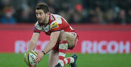 Greig Laidlaw of Gloucester during Aviva Premiership Rugby Big Game 9 match between Harlequins and Gloucester Rugby at The Twickenham Stadium, London on 27 Dec 2016 (Photo by Kieran Galvin/NurPhoto via Getty Images)