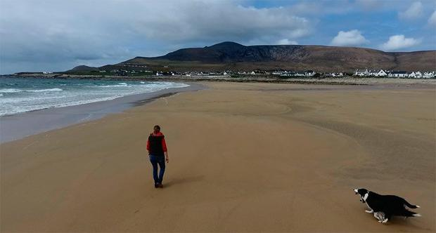 Dooagh Beach after the storm. Picture: Achill Island Tourism