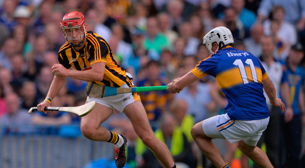 4 September 2016; Cillian Buckley of Kilkenny in action against Patrick Maher of Tipperary during the GAA Hurling All-Ireland Senior Championship Final match between Kilkenny and Tipperary at Croke Park in Dublin. Photo by Piaras Ó Mídheach/Sportsfile