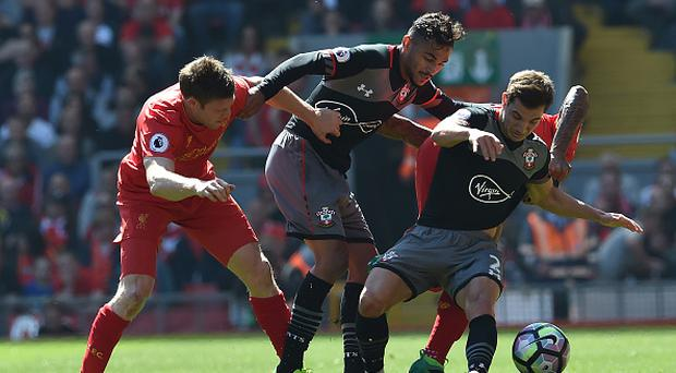 LIVERPOOL, ENGLAND - MAY 07: (THE SUN OUT, THE SUN ON SUNDAY OUT) James Milner of Liverpool during the Premier League match between Liverpool and Southampton at Anfield on May 7, 2017 in Liverpool, England. (Photo by Andrew Powell/Liverpool FC via Getty Images)