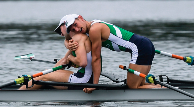 O'Donovan and O'Driscoll were first home in the lightweight men's pair. Photo: Sportsfile