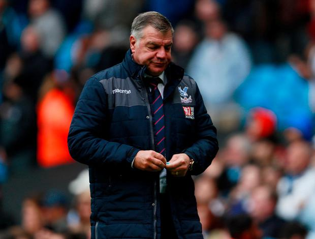 Crystal Palace manager Sam Allardyce. Photo: Jason Cairnduff/Action Images via Reuters