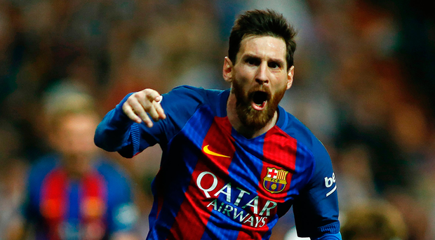 Barcelona's Argentinian forward Lionel Messi. Photo: Oscar Del Pozo/AFP/Getty Images