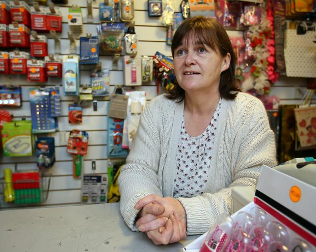Euroworld shopkeeper Helena McPartland, whose shop is close to the Syrian refugee centre in the Abbeyfield Hotel, Ballaghaderreen, Co Roscommon. Photo: Frank McGrath