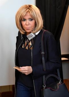 Power: Brigitte Trogneux, wife of the French president-elect Picture: Reuters
