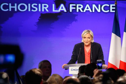 French far-right presidential candidate Marine le Pen concedes the election to centrist Emmanuel Macron. Photo: Reuters