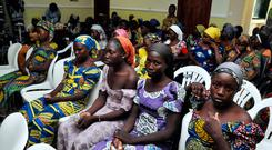 Chibok schoolgirls freed from Boko Haram captivity pictured in Abuja. The 82 freed Chibok schoolgirls arrived in Nigeria's capital yesterday to meet President Muhammadu Buhari as anxious families awaited an official list of names of those released. Photo: AP