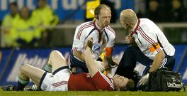 Fair game: Brian O'Driscoll was carried out of the 2005 Lions tour with a dislocated shoulder CREDIT: DAVID GRAY/REUTERS