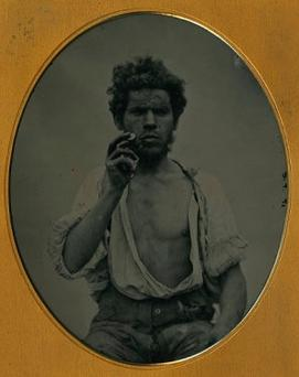 This man was photographed in Co Waterford in 1853
