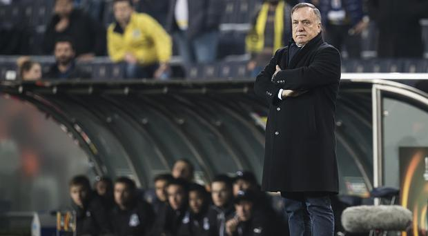 coach Dick Advocaat of Fenerbahce SKduring the UEFA Europa League round of 16 match between Fenerbahce and FK Krasnodar on February 22, 2017 at the Sukru Saracoglu stadium in Istanbul, Turkey(Photo by VI Images via Getty Images)