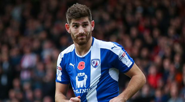 CHESTERFIELD, ENGLAND - NOVEMBER 13: Ched Evans of Chesterfield during the Sky Bet League One match between Chesterfield and Sheffield United at Proact Stadium on November 13, 2016 in Chesterfield, England. (Photo by Robbie Jay Barratt - AMA/Getty Images)