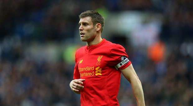 James Milner of Liverpool during the Premier League match between West Bromwich Albion and Liverpool at The Hawthorns on April 16, 2017 in West Bromwich, England. (Photo by Catherine Ivill - AMA/WBA FC via Getty Images)
