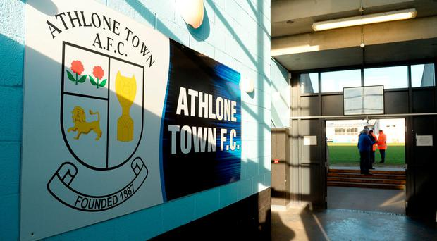 All of Athlone's first team squad was asked to speak with the FAI delegation. Photo: Oliver McVeigh/Sportsfile