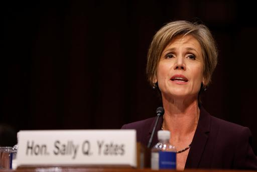 Former Acting Attorney General Sally Yates testifies about potential Russian interference in the presidential election before the Senate Judiciary Committee on Capitol Hill (REUTERS)
