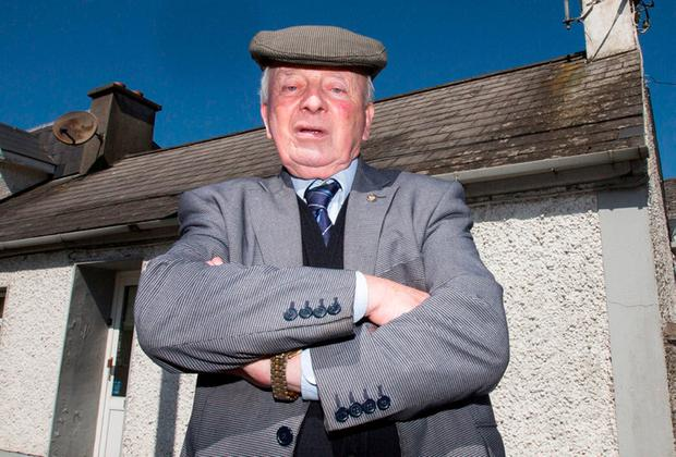 John Gleeson outside the house of the aggravated burglary in Roscrea, Co Tipperary. Photo: Mark Condren