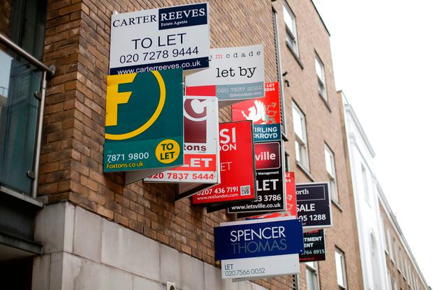 There were just over 3,000 properties available to rent at the start of this month. Photo: PA